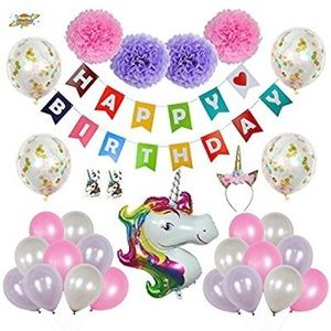 Accessories - Unicorn Party Decorations Set